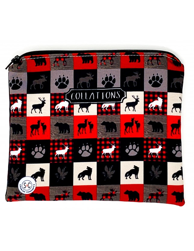 Grand sac à collation - Animaux d'ici